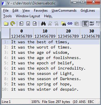 V - EBCDIC File Viewer